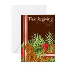 Thanksgiving Pine Cones Greeting Card