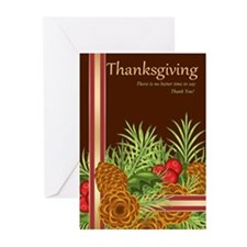 Thanksgiving Pine Cones Greeting Cards (Pk of 10)