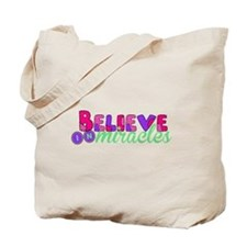 Believe in Miracles Tote Bag