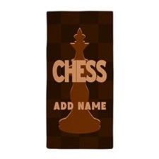 King of Chess Beach Towel