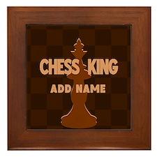King of Chess Framed Tile
