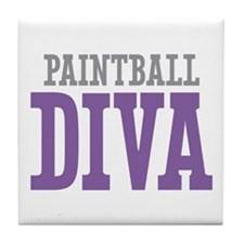 Paintball DIVA Tile Coaster