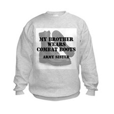 Army Sister Brother wears CB Sweatshirt
