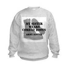Army Sister wears CB Sweatshirt