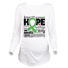 Muscular Dystrophy Words Long Sleeve Maternity T-S