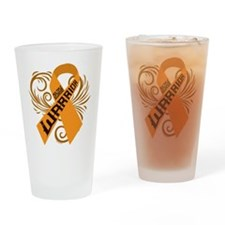 Multiple Sclerosis Warrior Drinking Glass