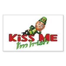 Kiss Me I'm Irish 3D Rectangle Decal
