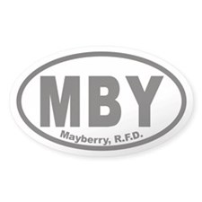 MBY Mayberry R.F.D. Euro Oval Decal