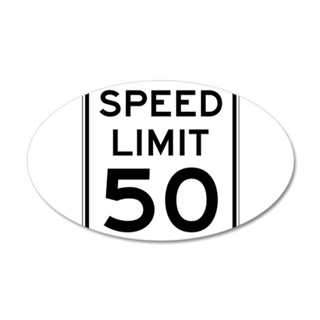 Speed Limit 50 Wall Decal