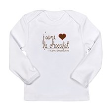I Love Chocolate in French Long Sleeve T-Shirt