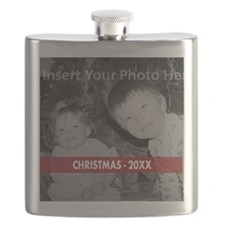 Modern Christmas Red White Flask