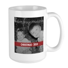 Modern Christmas Red White Mugs