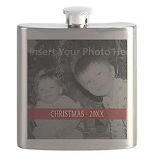 Modern Christmas Red Flask