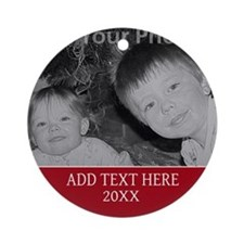 Completely Custom Red Ornament (Round)