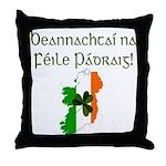 Gaelic & Map of Ireland Throw Pillow