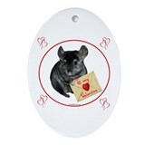Chin Valentine Oval Ornament