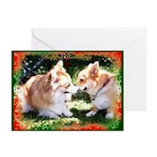 Happy Holiday Corgis Greeting Cards (Pk of 20)