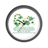 Irish Blessing Wall Clock