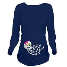 Baby Girl Skeleton Long Sleeve Maternity T-Shirt
