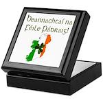 Gaelic & Map of Ireland Keepsake Box
