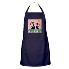 Whimsical Cats 3 Apron (dark)