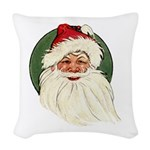 Vintage Santa Woven Throw Pillow