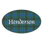 Tartan - Henderson Sticker (Oval)