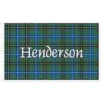 Tartan - Henderson Sticker (Rectangle)