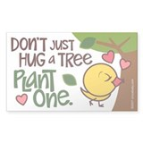 Plant a Tree Rectangle Decal