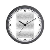 Pi to 1,000 Places Wall Clock