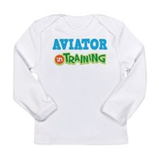 Aviator in Training Long Sleeve Infant T-Shirt