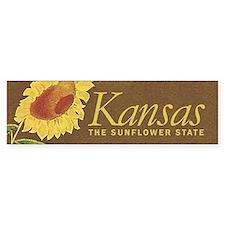 Kansas the sunflower state Bumper Sticker