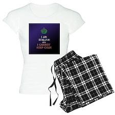 i cant keep calm im italian Pajamas