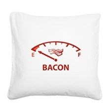 Running On Empty : Bacon Square Canvas Pillow