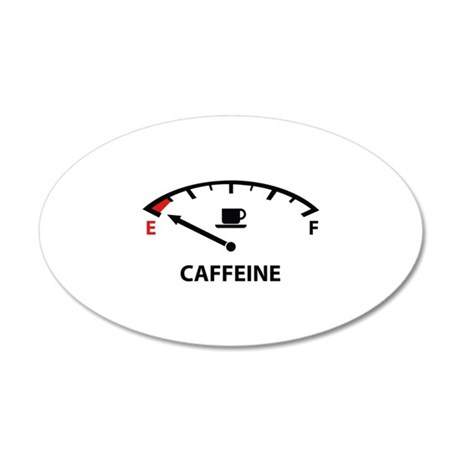 Running On Empty : Caffeine 38.5 x 24.5 Oval Wall