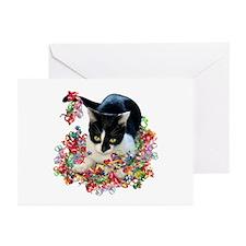 Cat Ribbons Greeting Cards (Pk of 20)