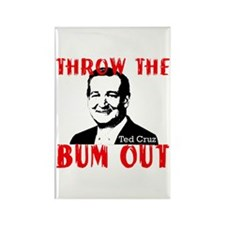 TED CRUZ THROW THE BUM OUT Rectangle Magnet (10 pa