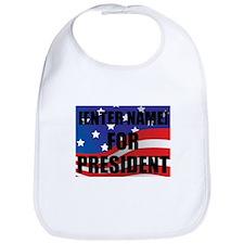 For President Personalize It! Bib