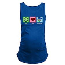 Peace Love Skydiving Maternity Tank Top
