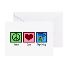 Peace Love Skydiving Greeting Card