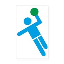 handball Rectangle Car Magnet