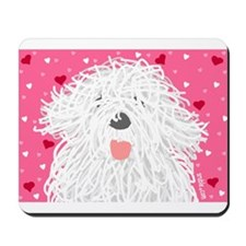 Heart Sheepdog Mousepad