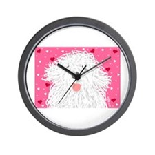 Heart Sheepdog Wall Clock