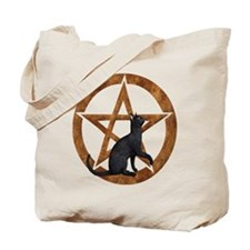 Pentacle with Cat Tote Bag