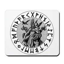 Odin Rune Shield Mousepad