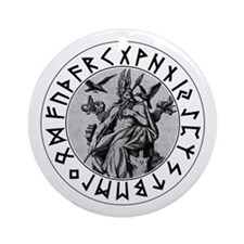 Odin Rune Shield Ornament (Round)