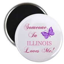 "Illinois State (Butterfly) 2.25"" Magnet (10 pack)"