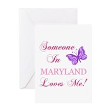 Maryland State (Butterfly) Greeting Card