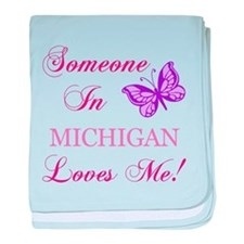 Michigan State (Butterfly) baby blanket