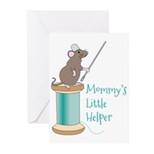 Mommys Little Helper Greeting Cards